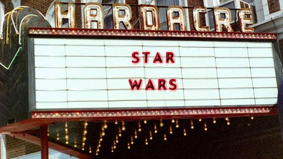 Star Wars on theater marquee
